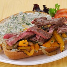 Rib Eye Steak Sandwich With Parsley Mayo Recipe