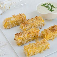 Crispy Polenta Sticks With Gorgonzola Dip Recipe