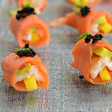 Avocado Shrimp Smoked Salmon Appetizer Rolls Recipe