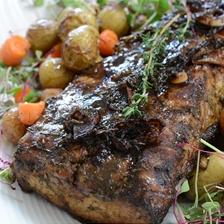 Iberico Pork Loin in Balsamic Vinegar and Red Wine Recipe