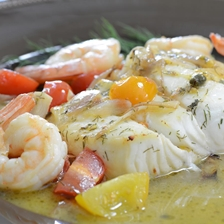 Halibut and Shrimp In Lemon Butter Sauce Recipe