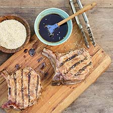 Grilled Sesame Pork Chops Recipe