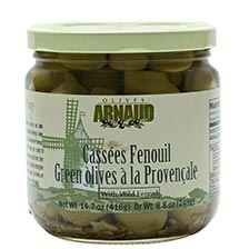 Green Provencal Olives with Fennel