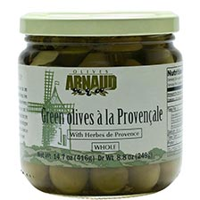 Green Provencal Olives with Herbs de Provence