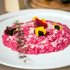 Beet and Goat Cheese Risotto Recipe | Gourmet Food World