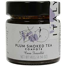 Plum Smoked Tea Compote