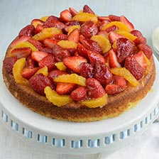 Citrus and Strawberry Ricotta Cake