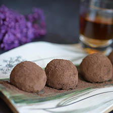 Cocoa Dusted Chocolate Truffles Recipe | Gourmet Food World