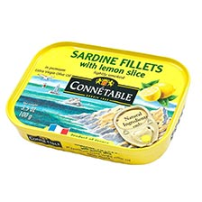 Sardine Fillets with Lemon Slice