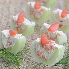 Smoked Salmon and Cucumber Appetizers Recipe