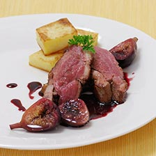 Duck Breast with Wine-Poached Figs Recipe
