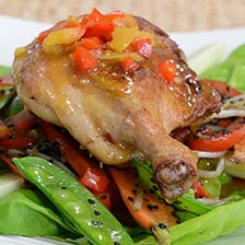 Duck Legs With Ponsu Sauce and Vegetable Sautee Recipe