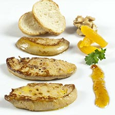 Slices of Fresh Duck Foie Gras - Flash Frozen - 2.0 oz Slices