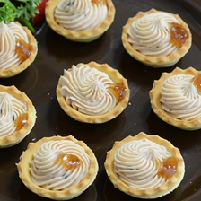 Cheese and Foie Gras Mini Tart Recipe