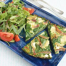 Goat Cheese and Prosciutto Frittata Recipe | Gourmet Food World