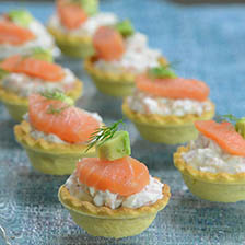 Smoked Salmon Canapes Recipe | Gourmet Food Store