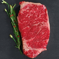 Wagyu Beef New York Strip Steaks - MS 5/6