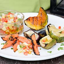 Grilled Vegetables With Pineapple Creole Sauce Recipe