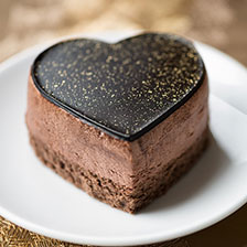 Heart Shaped Mousse Cake With Chocolate Ganache Recipe