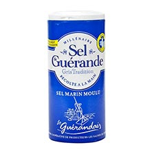 Fine Grey Sea Salt from Guerande - Salt Shaker
