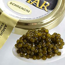 Osetra Amur Royal Amber Caviar - Malossol, Farm Raised