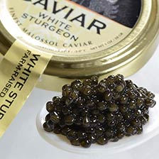 Italian White Sturgeon Caviar - Malossol, Farm Raised