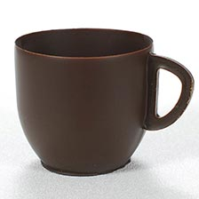 Dark Chocolate Coffee Mug - 1 x 2 x 2.25