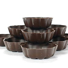Dark Turban Chocolate Cup, Fluted - 2.5 Inch