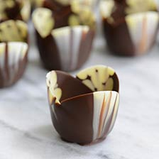 Mini Marbled Chocolate Tulip Cup - 2 x 1 Inch