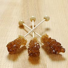 Rock Candy Amber Swizzle Sticks