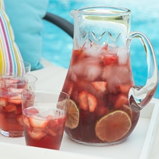Rose Water and Straberry Sangria Recipe | Gourmet Food World