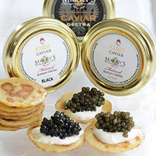 Russian Osetra Classic and Karat Caviar Sampler Gift Set