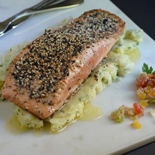 Salmon in Seed Crust Recipe | Gourmet Food World