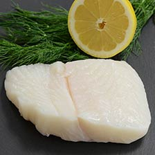 Alaskan Halibut Portion, Skin On
