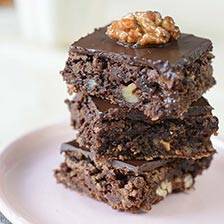 Scotch Walnut Brownies With Chocolate Coverture Recipe