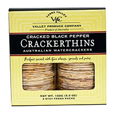Crackerthins with Cracked Black Pepper