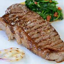 Wagyu Beef Center Cut New York Strip Steaks MS3