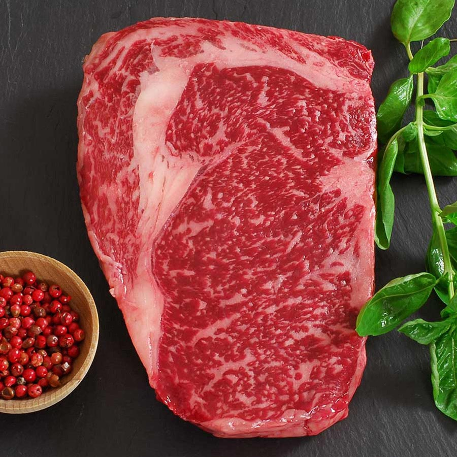 Wagyu Beef Rib Eye Steak Marble Grade 8 Whole Cut To