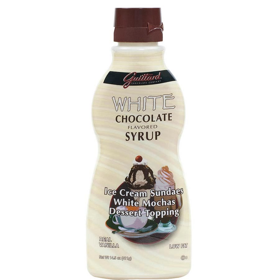 Cake Decoration With Chocolate Syrup : Guittard White Chocolate Syrup by Guittard from France ...