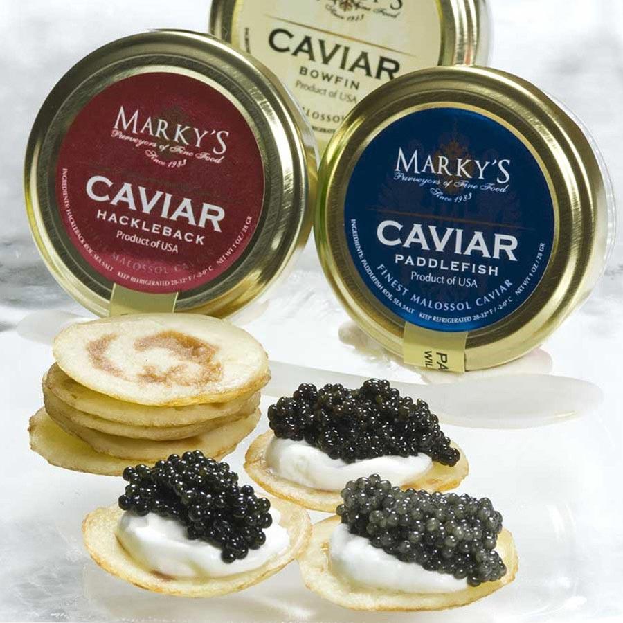 American caviar sampler gift set gourmet food store.