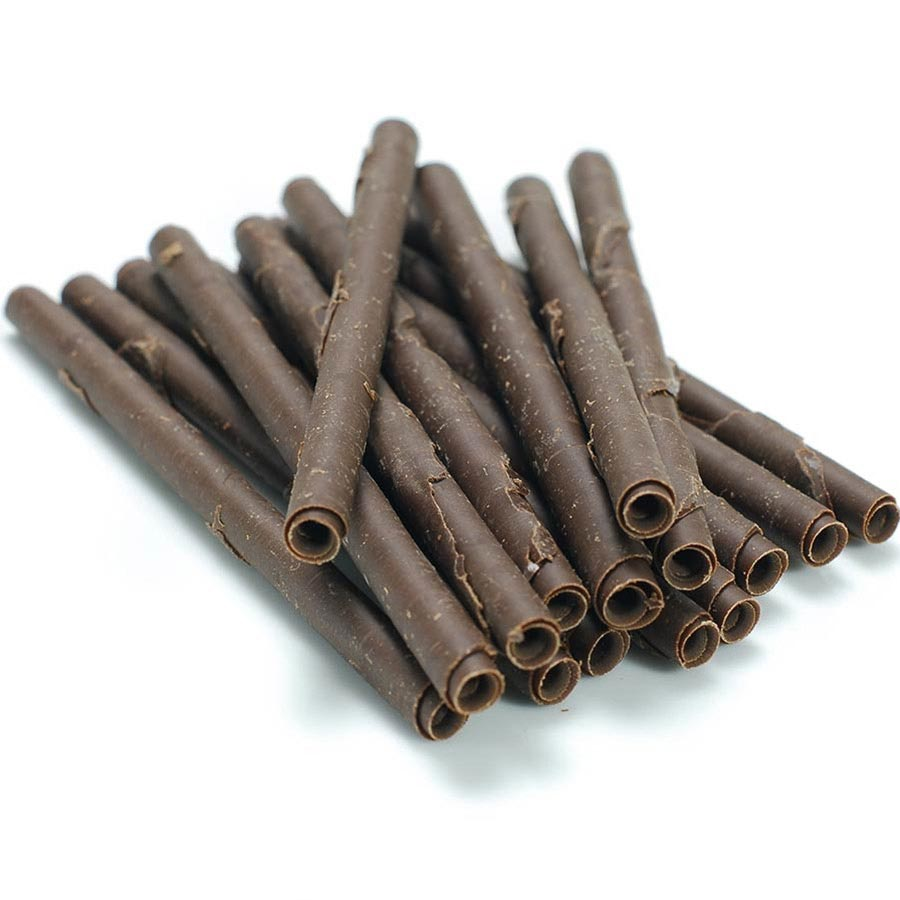 cigarette sticks dark chocolate 4 inch - Chocolate Decorations