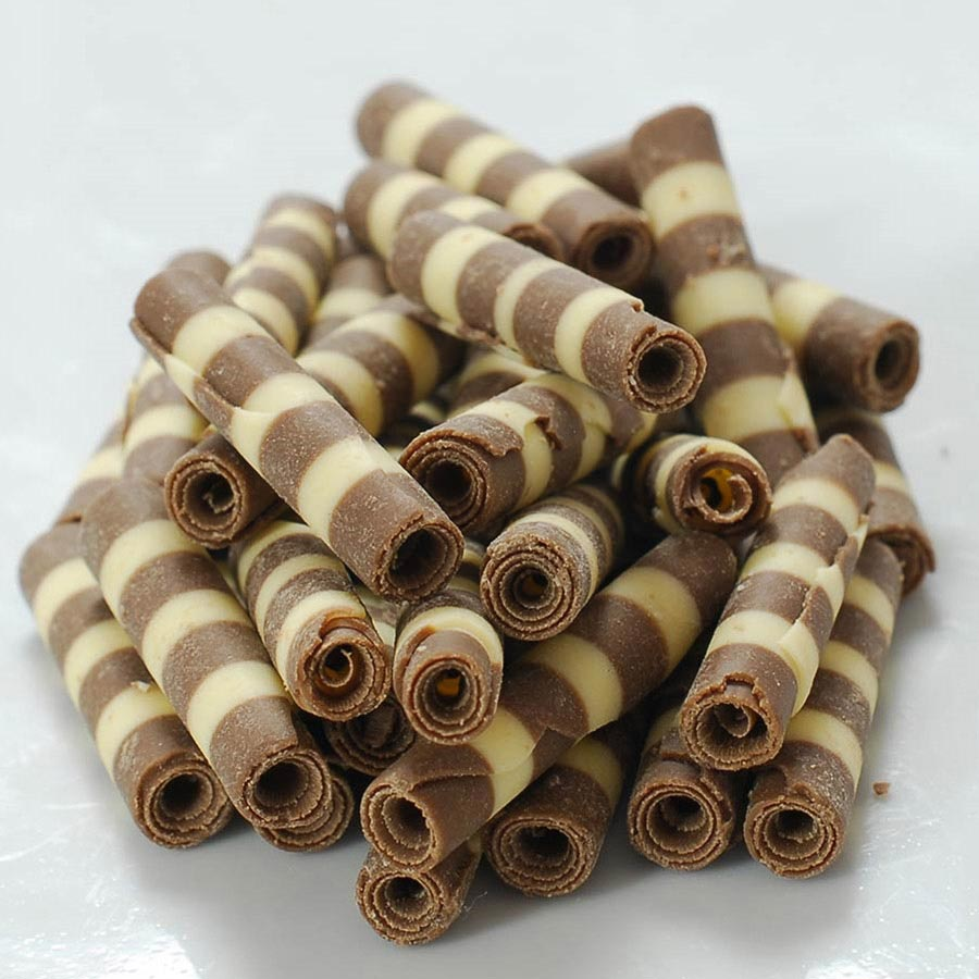 Milk And White Mini Chocolate Zebra Tubes 1 5 Inch By