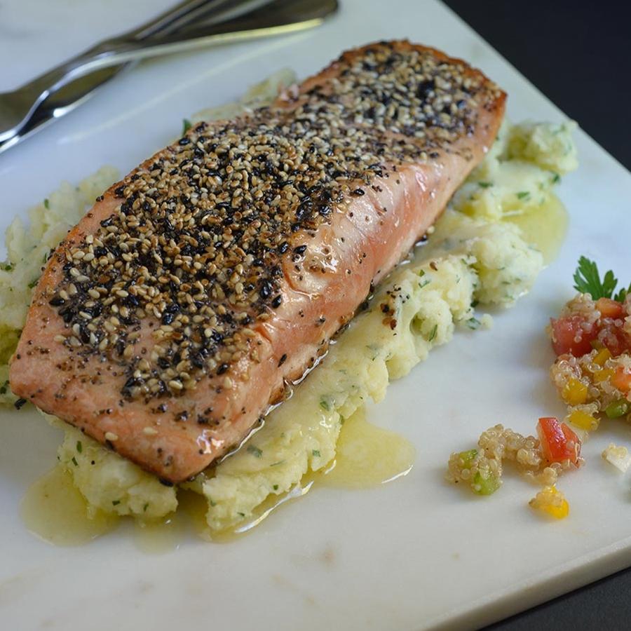 Salmon In Seed Crust Recipe