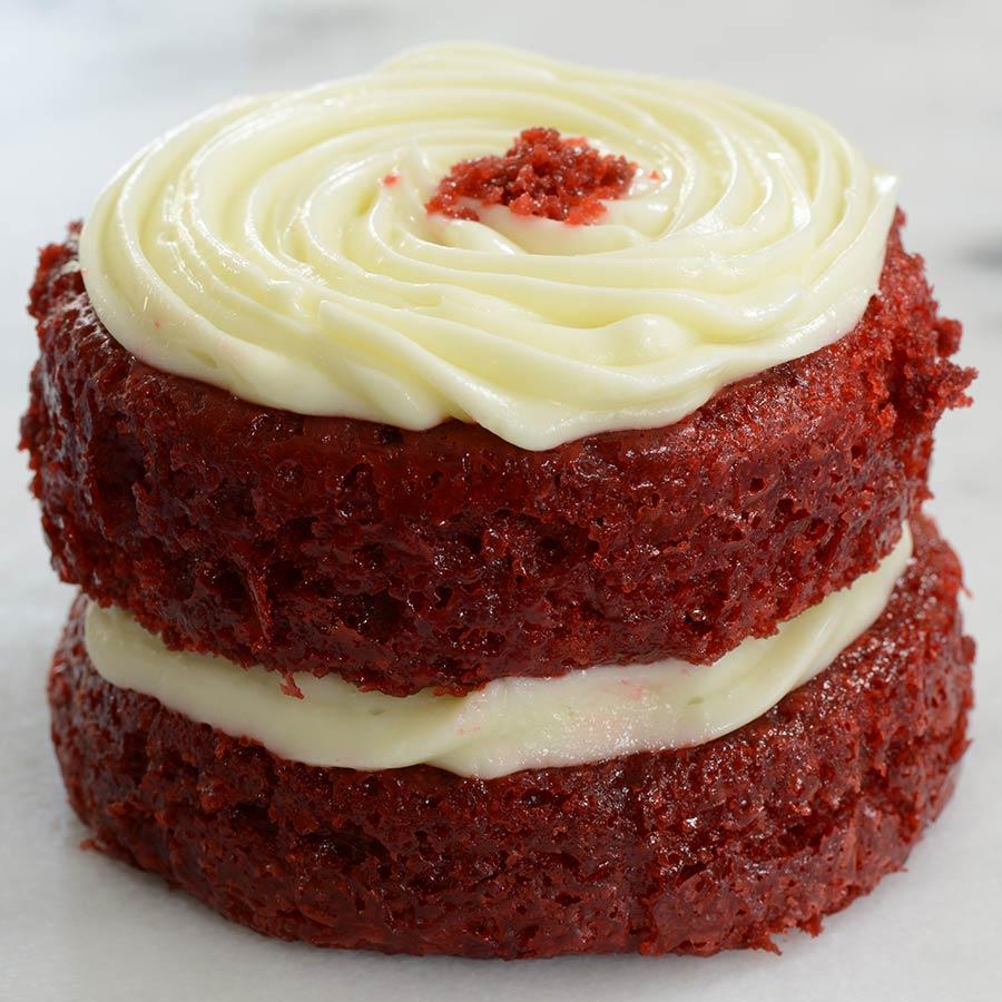 Single Serving Red Velvet Cake