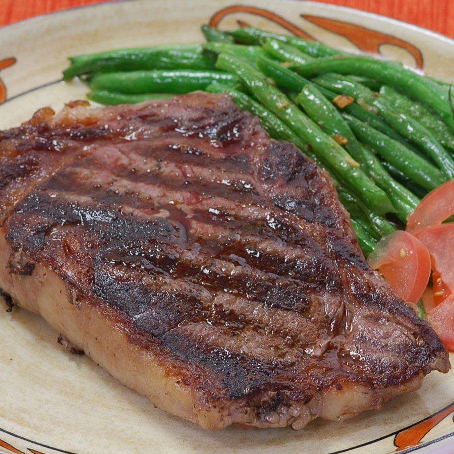 Wagyu Beef New York Strip Steaks Ms3 Bone In