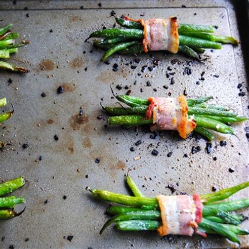 Bacon Wrapped Green Beans Side Dish