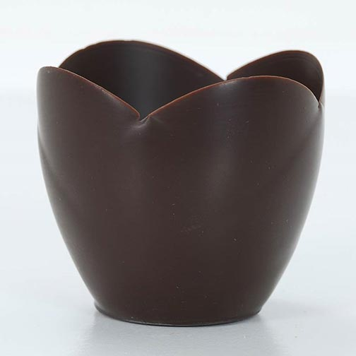 Dark Chocolate Tulip Cup - 3 Inch
