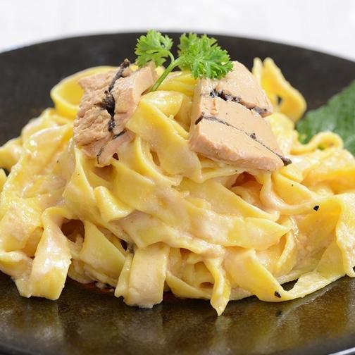 Easy pasta with truffle foie gras recipe gourmet food world easy pasta with truffle foie gras recipe by gourmet food world forumfinder Images