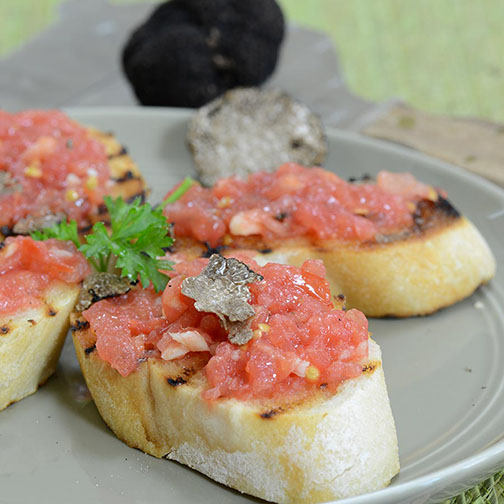 Fresh Black Truffle Crostini Recipe