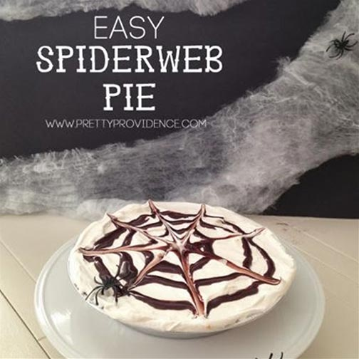 Halloween Recipe: Spooky Spiderweb Pie